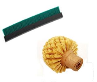 Stanset børster spesialprodusert